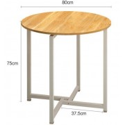 80*80*75CM Round Modern Dining Table Living Room Coffee Table Sofa Side Tea Table