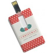 100yellow 8GB Merry Christmas & Happy New Year Print Credit Card Shape Pen Drive 8 GB Pen Drive(Multicolor)