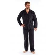Мъжка пижама Harvey Black Check Long