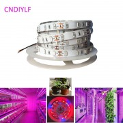 New 5730/5630 Plant Grow SMD LED Strip Light 5m/20W 12V 300LED 5R1B Non-Waterproof Fast Shipping