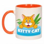 Shoppartners Dieren mok /katten beker Kitty Cat 300 ml Multi