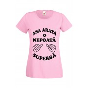 Tricou personalizat Asa arata o nepoata superba roz