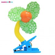Babies Bloom Green Mini Laser Clip On Cooling Fan for Babies, Green