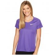 Nike Dry Miler Short Sleeve Running Top Dark IrisDark Raisin