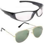 Ivonne Butterfly Sunglasses(Clear, Green)