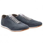 Norman Walsh Leather Barefoot Sneakers, 9.5 - Grey/Blue