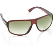 Farenheit Rectangular Sunglasses(Green)
