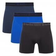 Bamboo Basics Bamboe onderbroek Heren onderbroeken - Zwart/Blauw - Size: 2X-Large