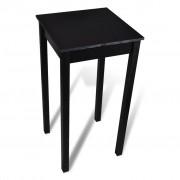 vidaXL Bar Table MDF Black 55x55x107 cm