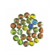 Play Design 100 Pcs Supreme Marble Glass Playing Balls (Kanche, Goli) Traditional Indian Game