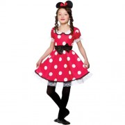 Wicked Costumes (M) Girls Cute Mouse Girl Costume for Animals Bugs Creatures Fancy Dress Kids Childs