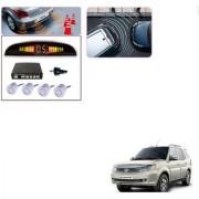 Auto Addict Car Silver Reverse Parking Sensor With LED Display For Tata Safari Storme