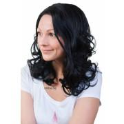 Перука от изкуствена коса Одри- черен цвят