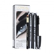 L´Oréal Paris Mega Volume Collagene 24h confezione regalo mascara Mega Volume Collagene 24h 2 x 9 ml + matita contorno occhi Eye Contour Khol Black 2 g donna