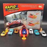Jojoss Rapid Launcher Metal Master Racer Cars 7 Sets for Kids