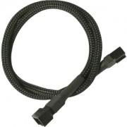 Cablu prelungitor Nanoxia 3-pini Molex, 60cm, black/black