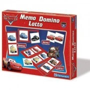 Clementoni - 12589 - Jeu Éducatif - Kit 3 In 1 Memo Domino Loto Cars