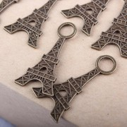 ELECTROPRIME® 20 Bronze Eiffel Tower Pendants Charms Findings for Necklace Jewelry Making