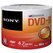 DVD-R Sony 120min/4.7GB, 16x - 50 броя в шпиндел, 50DMR47SP