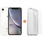 Apple iPhone Xr 128 GB Wit + Otterbox Clearly Protected Skin Alpha Glass