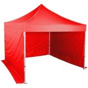 Pavilion de grădină 3x3m - hexagon din aluminiu, Roșu