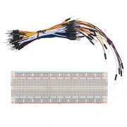 SunFounder Solderless Breadboard Prototype PCB Board MB102 830 Tie-Points + Male to Male Jumper Wires Flexible...