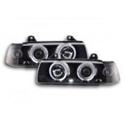 FK-Automotive fari Angel Eyes BMW 3er E36 berlina anno di costr. 92-98 neri