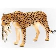Figurina Ghepard cu Pui Mojo