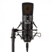 Auna MIC-920B USB micrófono condensador de estudio USB membrana grande negro