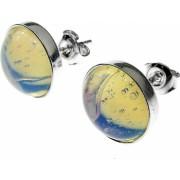 Cercei argint cu opalit 10 MM GlamBazaar 11 mm cu Opal Translucid tip cercei de argint 925 cu pietre naturale