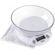 MSTJ 7KG Electronic Kitchen Scales Portable LCD Digital Food Diet Scale Balance Weight Tool With Bowl Weighing Scale(White)