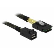 Cablu Mini SAS HD SFF-8643 la Mini SAS SFF-8087 1m, Delock 83389
