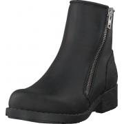 Johnny Bulls Mid Zip Boot Warm Lining Black/shiny Silver, Skor, Kängor och Boots, Chelsea Boots, Svart, Silver, Dam, 36