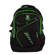 Větší batoh NEWBERRY do školy i na sportování L1911 černo-zelený