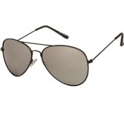 Arzonai Classics Aviator Black-Silver UV Protection Sunglasses For Men & Women |MA-093-S11|