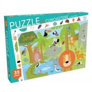 Puzzle Recunoastere Jungla, 35 piese