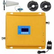 Amplificator semnal GSM 4G / 3G iUni KW17B-GD 2600 / 2100 / 900 MHz Digital Big size Bonus Bratara Roca Vulcanica unisex