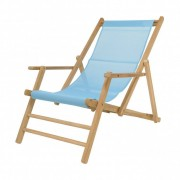 Jan Kurtz Maxx Deckchair Liegestuhl Bezug Kunststoffgewebe meerblau