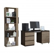 Combo TuHome Office 34 Escritorio + Biblioteca - Café+Miel