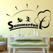 Decor Villa Wall Sticker (Summer Surface Covering Area 38 x 23 Inch)