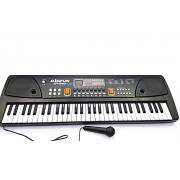 Big Fun Electronic Keyboard - 49 Keys Musical Keyboard with Microphone, Battery and USB Operated