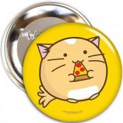 Fuzzballs Button - Pizza cat