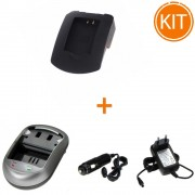 Kit Incarcator Power3000 pentru acumulator Panasonic tip CGA-DU06/07, VW-VBD210 + Bonus adaptor auto