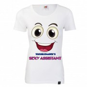 """Tricou dama 100% bumbac """"TROUBLEMAKER'S SEXY ASSISTANT"""""""