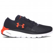 Under Armour Men's SpeedForm Fortis 2.1 Running Shoes - Black/Phoenix Fire - US 11/UK 10 - Black/Phoenix Fire