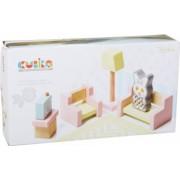 Jucarie Din Lemn Cubika Set Constructii - My Living Room