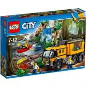 Set de constructie LEGO City Laboratorul Mobil din Jungla
