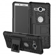 Capa Híbrida Antiderrapante para Sony Xperia XZ2 Compact - Preto