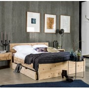Livengo Steigerhout bed met lades