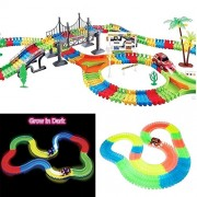 Tracks The Amazing Racetrack that Can Bend Flex Glow Juniors Ride On Car Magic Baby Magic Tracks Race Track Gifts New(pack of 1 set)165 pieces of Glow Track!